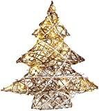Lunartec Dekoweihnachtsbaum: Handgefertigter Deko-Weihnachtsbaum mit 20 warmweißen LEDs, 40 cm (Weihnachtslicht)