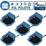 Kit gestion de chauffage fil pilote Z-Wave avec sonde de temp/érature et boiter mural Qubino
