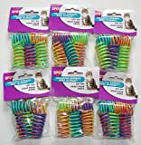 6-Pack Ethical Pet Colorful Springs Cat Toys * 10 Toys per Pack by Spot Brand