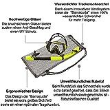 Premium kit de snorkeling Barracuda de Sportastisch :: couleur : JAUNE :: masque de plongée + tuba :: verre durci...