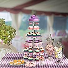 ysmklo Amiubo 6 Animales acrílico Redondo Transparente Pastel Soporte para Bodas cumpleaños Pantalla clasificadores