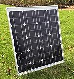 SUNDELY� 50W 12V Monocrystalline Solar Panel Kit for Camping Boating Motorhome Caravan + 3 Meter Cable & MC4 Connectors