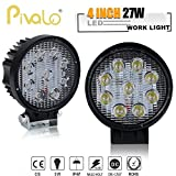 #5: Pivalo 4 Inch 27W Round LED Work Light Spot Light Off Road Driving Light Fog Light Waterproof for Bike Truck Car ATV SUV Jeep Boat 4WD ATV 12V (Pack of 2)