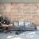 Fotomurales PURO ! Fotomurales realistas ! !Papel pintado tejido no tejido! !Un panel decorativo! !Fotomural! !Los cuadros para la pared en la dimensión XXL! 10 m hormigón mosaico pared pared azul beigemarrón dise?o de piedra f-A-0161-j-c