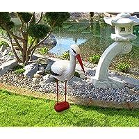 Figura decorativa de cigüeña para jardín (78cm)