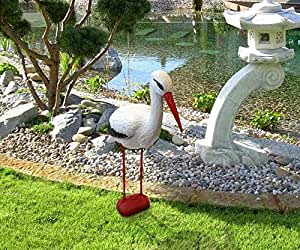 78cm stork pond ornament garden outdoors for Garden pond ornaments uk