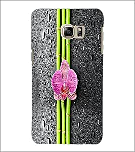 PrintDhaba Bamboo and Flower D-5537 Back Case Cover for SAMSUNG GALAXY NOTE 5 EDGE (Multi-Coloured)