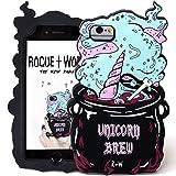 Rogue + Wolf Niedlich Unicorn Brew Phone Case kompatibel mit iPhone 6 6s 7 8 Fall Kawaii Silikon Telefonabdeckung für Mädchen