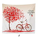 SamMoSon Tovaglia Tapestry Happy Valentine Tapestry Beach Cover Up Tunic...