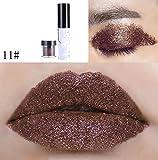 Momoxi Lidschatten,Augen Make-up Augenbrauenstift Shimmer Glitter Lip Gloss Puder-Palette Glitter Lipstick Cosmetic Lidschatten K