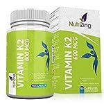 Vitamina K2 Alta resistencia 600 mcg | 90 Vegetarian Cápsulas | Promueve el mantenimiento de los huesos normales...