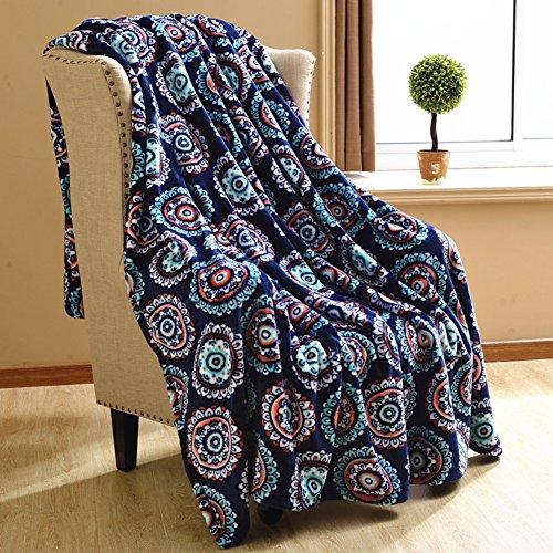 YUMUO Flanell Decke, Ultra-weich Velvet Twin Size Die Ganze Saison Leicht,Falten-resistente Decke Für Zuhause Schlafzimmer -c 200x230cm(79x91inch)