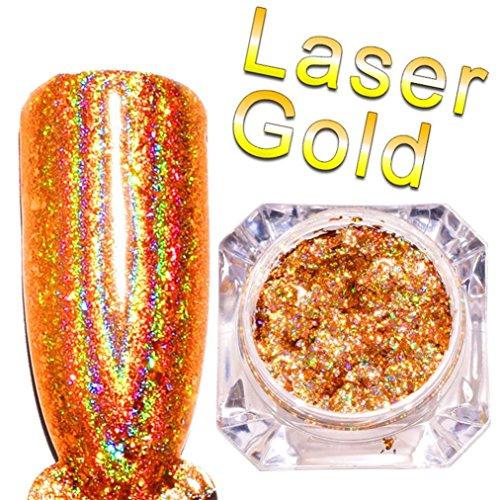 Tefamore Spiegel Nagellack Überzug Gold Paste Metall Farbe Gel DIY