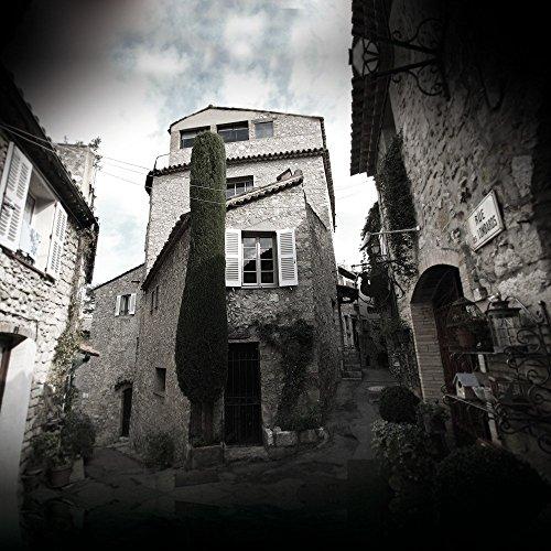 Apple iPhone 4 Housse Étui Silicone Coque Protection Ruine Photographie Village CasDur anthracite clair