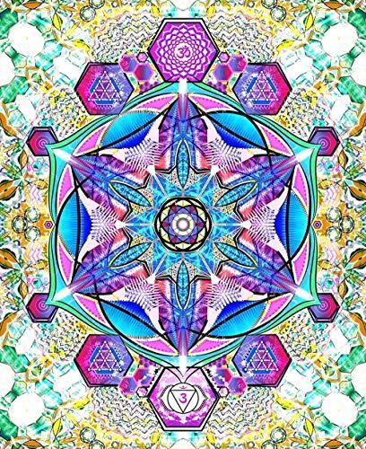 WHTYYPT Juguetes clásicos 1000 Piezas Rompecabezas de Madera Niños Adultos - Mandala de Colores - Arte DIY Juegos Casuales Regalos Divertidos para Familiares y Amigos