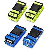 Koffergurt, Solawill 4 Stück Gepäckgurt Einstellbare Kofferband Travel Accessories Kofferband Gepäckband zum sicheren Verschl