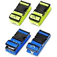 Koffergurt, Solawill 4 Stück Gepäckgurt Einstellbare Kofferband Travel Accessories Kofferband Gepäckband zum Sicheren Verschließen der Koffers auf Reisen und Kennzeichnen von Gepäck