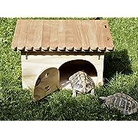 Novità Blitzen, casetta per tartarughe di terra Deluxe con fondo - Tartaruga Di Terra