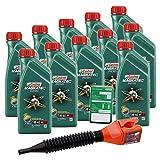 11x 1 L = 11 Liter Castrol Magnatec Diesel 5W-40 DPF Motor-Öl inkl. Ölwechsel-Anhänger und Einfülltrichter