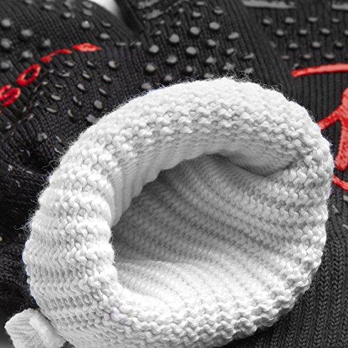 61HaI3gRU1L - Grillhandschuhe hitzebeständig, extra lang mit Tasche, bis zu 500 Grad, Schwarz, 1 Paar Ofenhandschuhe 2er Set