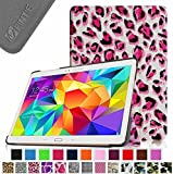 Fintie Samsung Galaxy Tab S 10.5 (10.5-Inch) Smart Shell Case - Ultra Slim Lightweight Stand Cover with Auto Sleep/Wake Feature, Leopard Magenta