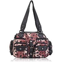 Angel Kiss Damen handtasche Umhängetasche 2 hauptfächer Multifunktionale Rucksack Weiches PU Leder mit Reißver…