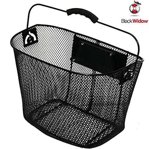 Black Widow Quick Release Basket designed for Front of Bicycle