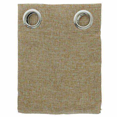 Pannello tenda arredo canapone con borchie art. easy - tinta unita n271 beige