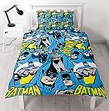 DC Comics Batman DC 'Hero' Diseño de impresión de repetición de-Juego de Funda de edredón y Funda