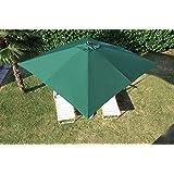 Ombrellone legno 3x3mt Verde arredo giardino carrucola palo centrale 781/1V
