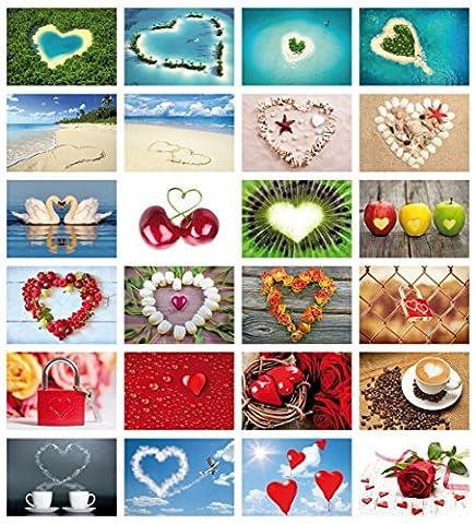 Love Kit de Il Cartes Postales pour Cards (Lot de 2): 24Amour avec coeur–Cartes de mariage Thème de l'amour & mariage–Idéal comme Jeu ou cadeau de mariage romantique de Edition Colibri©