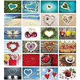 Love Kit de Il Cartes Postales pour Cards (Lot de 2): 24Amour avec coeur–Cartes de mariage Thème de l'amour & mariage–Idéal comme Jeu ou cadeau de mariage romantique de Edition Colibri© (10794–817)