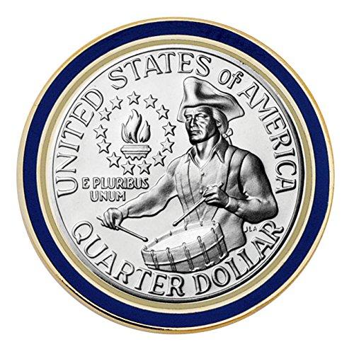 Proof Washington zweihundertjahr-Quarter Medaille Anstecknadel Rückseite View -
