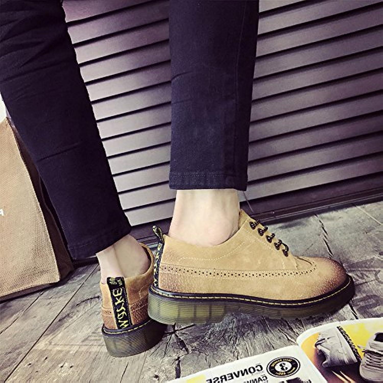 HL-PYL-Martin botas zapatos bajos zapatos All-Match macho coreano,43,amarillo