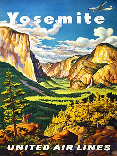 viaggi-yosemite-united-airlines-california-usa-vintage-advertising-poster-2589py