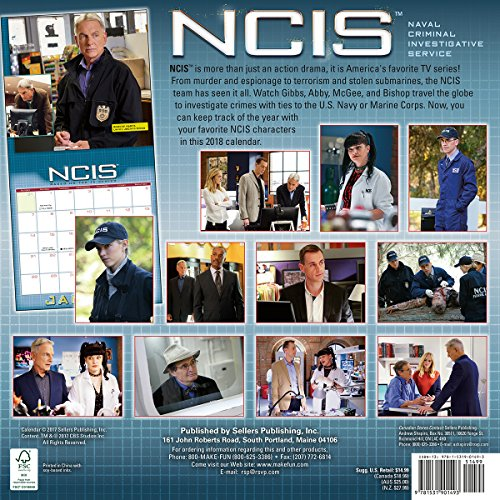 Calendrier NCIS 2018: Based on the TV Series