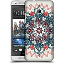 Official Micklyn Le Feuvre Coral And Teal Tangle Medallion Mandala 3 Hard Back Case for HTC One mini