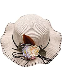 Amazon.es  sombreros de paja chica - Sombreros y gorras   Accesorios ... 65369bb3cb7