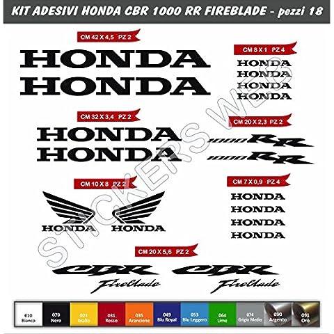 Pegatinas, modelo Honda CBR 1000RR Fireblade, Kit 18piezas, Nero cod. 070