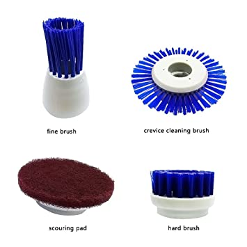 EVERTOP Electric Multi Powered Scrubber Cleaner Cleaning Tools U0026 Electric  Scrubbing Brush For Kitchen U0026 Bathroom Bathtub + 4 Pcs Cleaning Brushes ( Brushes): ...