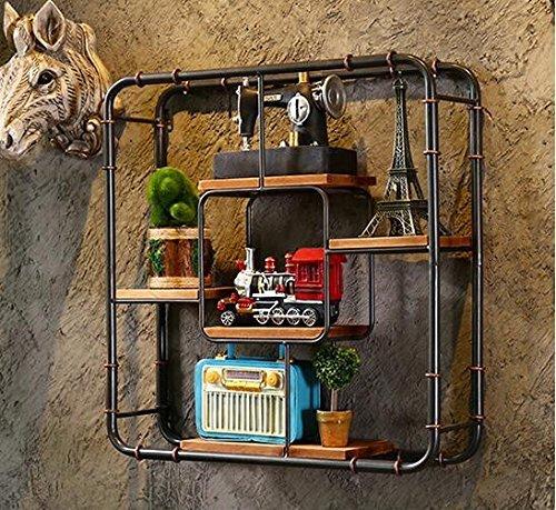 Das Bügeleisen Bügeleisen Rohr Wandbild Bar Restaurant Coffee Shop Dekoration Industrial Wind Gitterblech Bügeleisen Wandbild,61 * 16 * Zwei Füße