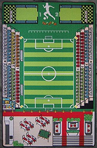 TAPITOM Alfombra fútbol niños - Alfombra Campo fútbol