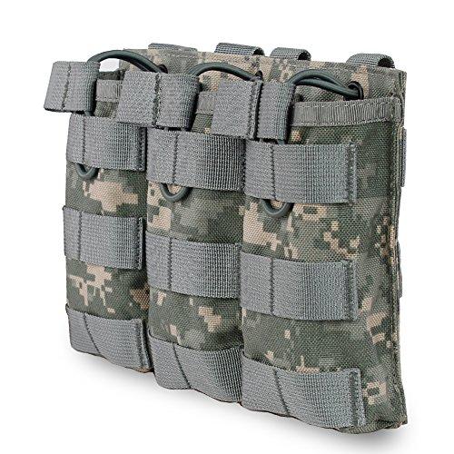 XUE Magazin Pouch Pistole Molle Flecktarn ACU für M4 M16 AR-15 Magazintasche Airsoft Magazin Tasche Tactical Rucksack Weste Belt Zubehör -