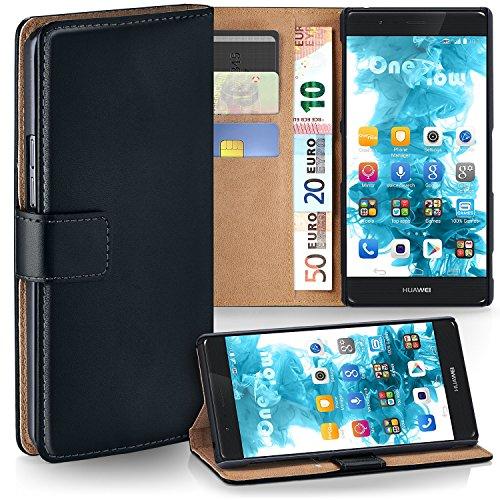 moex Huawei P9 Plus | Hülle Schwarz mit Karten-Fach 360° Book Klapp-Hülle Handytasche Kunst-Leder Handyhülle für Huawei P9 Plus / G9 Plus Case Flip Cover Schutzhülle Tasche