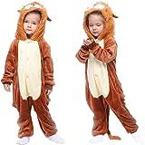 MMTX Pijamas Animal para Niñas Niños, Pijamas de León Pijamas Enteros de Animales con Capucha, Halloween Navidad Regalos para