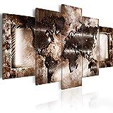 murando - Bilder 225x112 cm - Vlies Leinwandbild - 5 Teilig - Kunstdruck - Modern - Wandbilder XXL - Wanddekoration - Design - Wand Bild - Abstrakt Weltkarte 020101-248