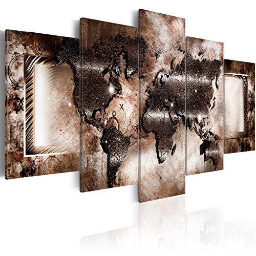 murando - Bilder 200x100 cm - Vlies Leinwandbild - 5 Teilig - Kunstdruck - modern - Wandbilder XXL - Wanddekoration - Design - Wand Bild - Abstrakt Weltkarte 020101-248