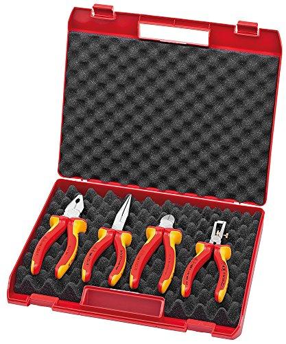 KNIPEX 00 20 15 Kompakt-Box 4-teilig mit VDE-Werkzeugen