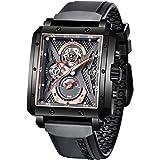 BERSIGAR Montres Rectangulaires pour Montre Homme Analogique Quartz Mode De Luxe Sport Montre chronographe Homme Bracelet en