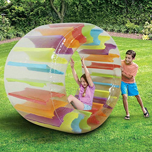 Seasaleshop Zorbing Ball, Zorbing Rad Kinder, Aufblasbares Kullerrad für Kinder, Zorb Ball, Aufblasbares Lauf-Rad, Walzenrad zum Aufblasen, Aufblasbarer Ball zum Reinsteigen